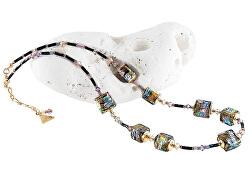 Mysteriózní náhrdelník Gold Cubes s 24karátovým zlatem a ryzím stříbrem v perlách Lampglas NCU17