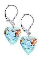 Nádherné náušnice Ice Flower s ryzím stříbrem v perlách Lampglas ELH18