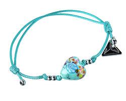Nádherný náramek Ice Flower s ryzím stříbrem v perle Lampglas BLH18