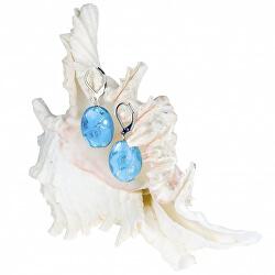 Něžné náušnice Blue Lace z perel Lampglas s ryzím stříbrem EP4