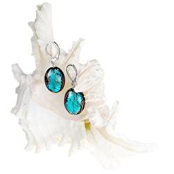 Tajemné náušnice Deep Sea z perel Lampglas s ryzím stříbrem EP11