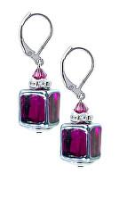 Něžné náušnice Juicy Raspberry z perel Lampglas ECU32