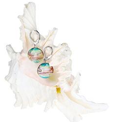 Něžné náušnice Sweet Childhood z perel Lampglas s ryzím stříbrem EP22