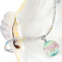 Něžný dámský náhrdelník Sweet Childhood s perlou Lampglas s ryzím stříbrem NP22
