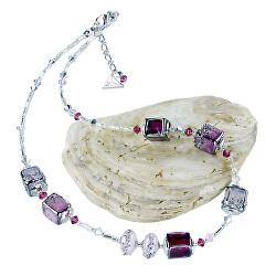 Něžný náhrdelník Juicy Raspberry z perel Lampglas NCU32