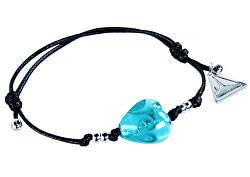 Něžný náramek Forest Heart s ryzím stříbrem v perle Lampglas BLH10