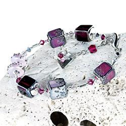 Něžný náramek Juicy Raspberry z perel Lampglas BCU32