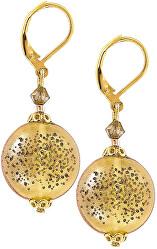 Okouzlující náušnice Honey Bee s perlami Lampglas EDP3
