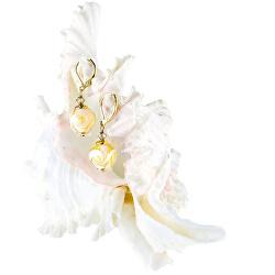 Oslnivé náušnice Sun Rays s 24karátovým zlatem v perlách Lampglas EER2