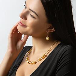 Oslnivý náhrdelník Sun Rays s 24karátovým zlatem v perlách Lampglas NER2
