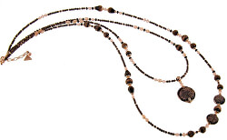 Pôsobivý náhrdelník Be Original s perlami Lampglas NDP1