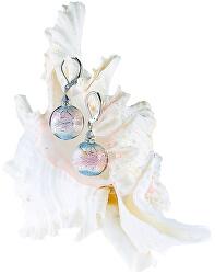 Půvabné náušnice Pastel Dream s ryzím stříbrem v perlách Lampglas ERO8