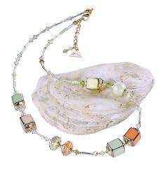Půvabný náhrdelník Soft Cube z perel Lampglas NCU33
