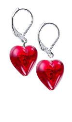 Romantické náušnice Pure Love s 24 karátovým zlatem v perlách Lampglas ELH1
