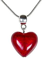 Romantický náhrdelník Pure Love s perlou Lampglas s 24karátovým zlatem NLH1