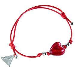 Romantický náramek Pure Love s 24karátovým zlatem v perle Lampglas BLH1