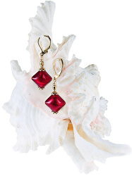 Skvostné náušnice Indian Summer s 24karátovým zlatem v perlách Lampglas ERO6