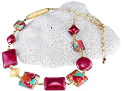 Skvostný náhrdelník Indian Summer s 24karátovým zlatem v perlách Lampglas NRO6