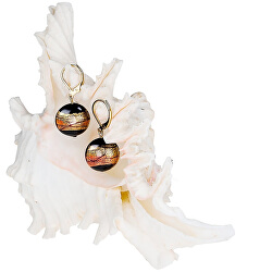 Tajemné náušnice Mystery z perel Lampglas s 24karátovým zlatem EP18