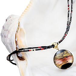 Tajemný dámský náhrdelník Mystery s perlou Lampglas s 24karátovým zlatem NP18