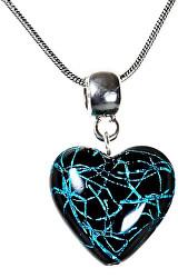 Tajemný náhrdelník Night Fairy s perlou Lampglas s ryzím stříbrem NLH4