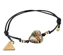 Tajemný náramek Jungle Colors s 24karátovým zlatem v perle Lampglas BLH13
