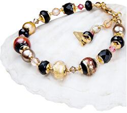 Tajemný náramek Mystery s perlami Lampglas s 24karátovým zlatem BP18