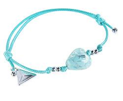 Tyrkysový náramek Turquoise Caress s ryzím stříbrem v perle Lampglas BLH12