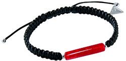 Úchvatný partnerský náramek Shamballa Red Line s 24karátovým zlatem v perle Lampglas BSHX7