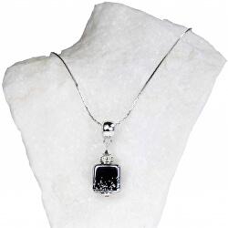 Unikátní dámský náhrdelník Dark Lady s perlou Lampglas NSA11