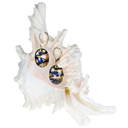 Úžasné náušnice Egyptian Queen z perel Lampglas s 24karátovým zlatem EP28