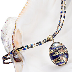 Úžasný dámský náhrdelník Egyptian Queen s perlou Lampglas s 24karátovým zlatem NP28