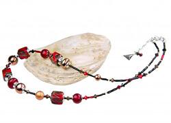 Nepřehlédnutelný náhrdelník Bloody Mary 24karátovým zlatem v perlách Lampglas NCU11
