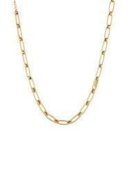 Nadčasový pozlacený náhrdelník s krystaly LJ1594