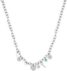 Oceľový náhrdelník s príveskami LJ1417