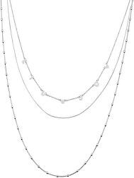 Trojitý náhrdelník z ocele LJ1422