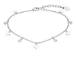 Designový stříbrný náramek s přívěsky LP3182-2/1