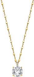 Elegantní pozlacený náhrdelník ze stříbra s čirými krystaly Swarovski LP2005-1/5 (řetízek, přívěsek)