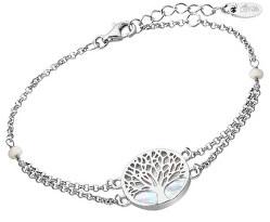 Elegantní stříbrný náramek Strom života s perletí LP1678-2/1