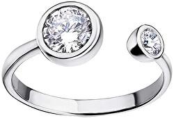 Elegáns ezüst gyűrű átlátszó cirkónium kővel  LP1272-3/1