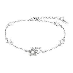 Hravý stříbrný náramek s hvězdičkovými přívěsky Trendy LP3177-2/1