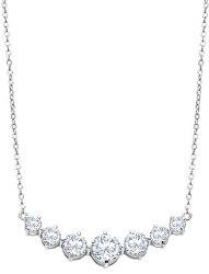Luxusní stříbrný náhrdelník s čirými krystaly Swarovski LP2013-1/1