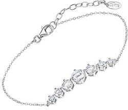 Luxusní stříbrný náramek s čirými krystaly Swarovski LP2013-2/1