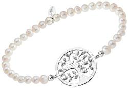 Něžný perlový náramek s přívěskem LP1892-2/1