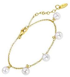 Nežný pozlátený náramok s perlami LP1932-2 / 1