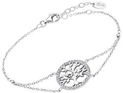 Něžný stříbrný náramek Strom života s čirými zirkony LP1746-2/1