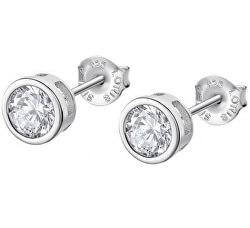 Oslnivé stříbrné náušnice s čirými zirkony Pure Essential LP3299-4/1