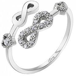 Otevřený stříbrný prsten pro ženy LP1617-3/1