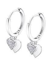 Překrásné stříbrné náušnice kruhy s přívěsky Trendy LP3274-4/1