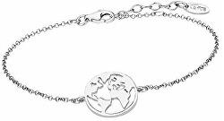 Stylový stříbrný náramek Mapa světa LP1898-2/1